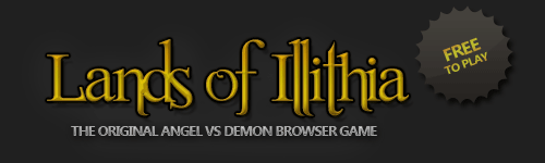 Title of IllRPG Logo. Clicking on this brings you back to the Lands of Illithia Homepage
